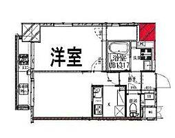 東京メトロ有楽町線 江戸川橋駅 徒歩7分の賃貸マンション 9階1LDKの間取り