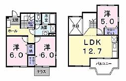 ノワ・シュクレ[1階]の間取り
