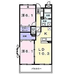 ファミール松坂[105号室]の間取り
