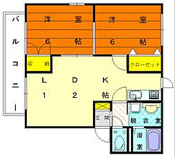 フローラルM[1階]の間取り