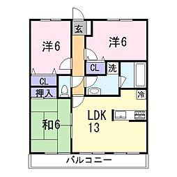 エンブレイス姫路下寺町[8階]の間取り
