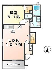 愛知県あま市本郷八尻の賃貸アパートの間取り