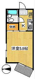 ハイツ宮崎台[2階]の間取り