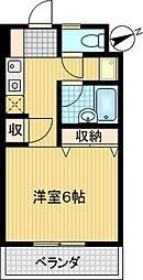 コンフォート鶴牧[402号室]の間取り