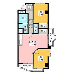 サウスリバーIII[4階]の間取り