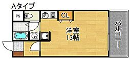 スターマンション[3階]の間取り