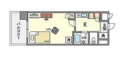 家具・家電付きピュアドームプレシオ博多[2階]の間取り