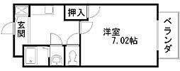 パセオ久米田[203号室]の間取り