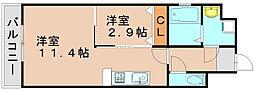 カシオペア箱崎[7階]の間取り