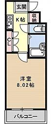 パンセ堀川[901号室号室]の間取り