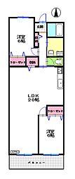 ロイヤルメゾンMAY[5階]の間取り