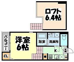仙台市営南北線 長町一丁目駅 徒歩6分の賃貸アパート 1階1Kの間取り