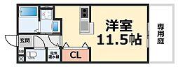 パークサイド・マ・メゾンII[105号室号室]の間取り