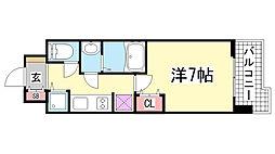 LAV神戸三宮[6階]の間取り