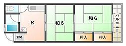 グリーンハイツ関[4階]の間取り