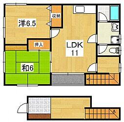 川口アパート[2S号室号室]の間取り