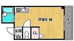 シャンテー中宮II[4階]の間取り