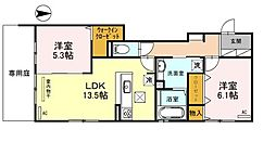 (仮称)D-room伊加賀西町 3階2LDKの間取り
