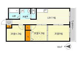 足立第2ビル[3階]の間取り