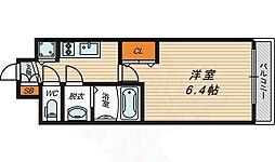 JR大阪環状線 京橋駅 徒歩7分の賃貸マンション 8階1Kの間取り