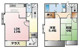前田ハイツB棟[1階]の間取り