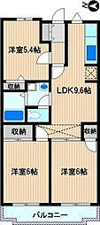 コートハウス新川崎[2階]の間取り