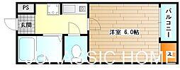 大阪府堺市堺区材木町東2丁の賃貸マンションの間取り
