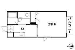 ソレアード・アキヒロ[2階]の間取り