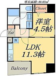 東京メトロ日比谷線 入谷駅 徒歩3分の賃貸マンション 3階1LDKの間取り