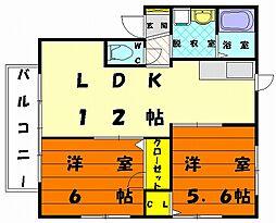 シャーメゾン名島[2階]の間取り