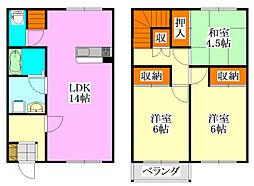[テラスハウス] 千葉県習志野市津田沼5丁目 の賃貸【/】の間取り