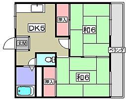 ミノワハイツ[1階]の間取り
