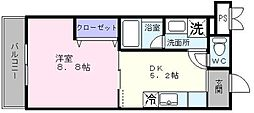 ブルーム浜寺[303号室]の間取り