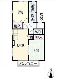 コーポラスR[2階]の間取り