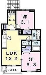 太子堂ガーデンハイツII[1階]の間取り