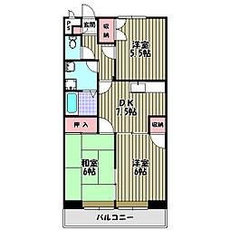 ファミリーハウス須賀[3階]の間取り