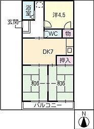 アネックス奥村[2階]の間取り