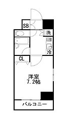 東京メトロ丸ノ内線 銀座駅 徒歩6分の賃貸マンション 3階1Kの間取り