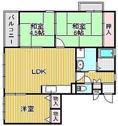 エスト夙川[3階]の間取り