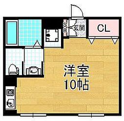 大阪府枚方市牧野阪2丁目の賃貸マンションの間取り