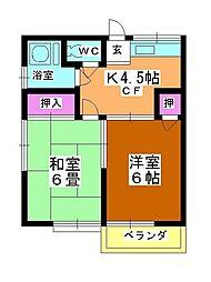 第3矢ヶ崎荘[202号室]の間取り