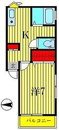 リビエルコートII[2階]の間取り