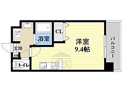 仮)都島本通4丁目新築マンション 5階ワンルームの間取り