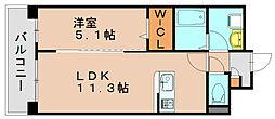ヴィンテージ箱崎東[8階]の間取り