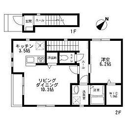 グリーンハイツYO A棟[201号室号室]の間取り