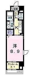 天瀬ハイマート[7階]の間取り