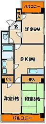 クィーンズコート壱番館[4階]の間取り
