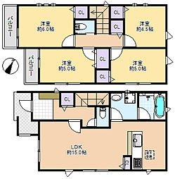一戸建て(大泉学園駅から徒歩37分、84.64m²、4,280万円)