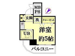 ネオマイム新子安弐番館[604号室]の間取り