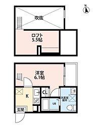 Bellecour[1階]の間取り